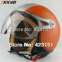 Wholesale New Brand Classic Pilot helmets Vintage open face helmets motorcycle half face helmets style the cheapest price