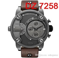 auto pin - Oversized Case Mutiple Dials Date Display Rubber Strap Quartz Watch DZ7258 Mens Watch Fashion Watch Sport Watches For Man