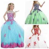 Wholesale Luxury Girl s Pageant Dresses For Teens Floor Length Christmas Dresses Birthday Gown For Gift Kids Formal Wear Full Length Flower Girl Dress