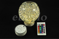 Wholesale Remote Controlled Submersible LED Light Battery Operated Remote Controlled Submersible LED Light Wedding Cristmas Party Decorations