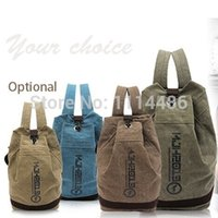 Wholesale Travel Bags Canvas Bag Casual bag New Fashion Drum Double shoulder Portable Woman Men Shoulder Bags Sports Tube Package