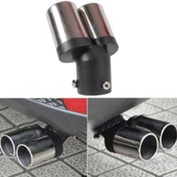 Wholesale Car Exhaust Pipes Twin Tail Pipes Auto Exhaust Pipe Rear Pipe Exhaust System Car Products Auto Accessories