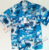 beach properties - Hawaiian shirt cotton men s shirts good quality pub serving fine property tropical beach clothes blue green jersey