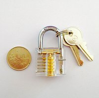 Wholesale Transparent Padlocks Training Trainer Skill for Locksmith with Two Keys Inside View of Lock Training Lock for Locksmith