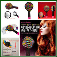 Wholesale Eyecandy Eye candy Rainbow Volume comb amazing S waved brush for you hair care Hair Care Combs