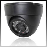Wholesale cctv camera black metal case dome camera leds night vision mm tvl good quality security camera