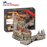 bastion game - new clever happy land d puzzle model Matthias Church Fisherman s Bastion large adult puzzle diy gift games for children paper