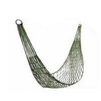 Wholesale 200 cm network hammock nylon rope single hammock include tying rope and cloth bag outdoor swing supply