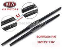 accessories for auto kia - Top quality Auto accessories Soft Rubber WindShield car Wiper blade blades PAIR quot quot for kia borrego Rio