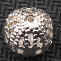 Wholesale New Arrival Silver Round Iron Ball Crimp End Beads Jewelry Findings mm