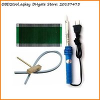 air climate - AQkey OBD2tool set For BMWcar E38 ACC climate air condition pixel repair ribbon cable Soldering Iron T head Teflon Cable