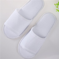 cheap slippers - Disposable High Quality Non woven Hotel Bath Slippers Cheap hotel bathroom slippers Closed toe eva sole