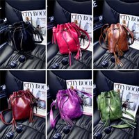 Wholesale New Arrivals Women Lady Handbag Shoulder Bags Tote Purse Messenger Hobo Bag Drawstring PU Leather Tassel Size CM BX204