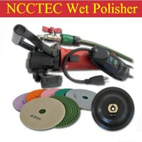 Wholesale a combo of angle water WET polisher Euro plug connection A set of polishing wheels stick pad mm angle grinder W