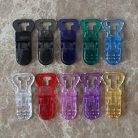 mam - 100Pcs Clear Plastic Clips For Pacifier Soother Dummy Nuk MAM Bib Toy Holder Suspender
