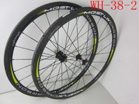 Wholesale Straight Pull Road Bike Bicycle Carbon Wheels mm Tubular Clincher Wheelset with Powerway R36 Carbon Hub White Decal K Glossy Bicycle Part