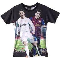 Wholesale 2016 new summer Football jersey Fan World Cup Ronaldo Messi Men t shirt Unisex Tee D t shirt Short Sleeve Tops tee