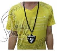 Bohemian hip hop chain - 10PCS Hot Selling Raiders Acrylic Pendant Necklace Sweater Chain Unisex Hip hop Necklace Pendent Necklace