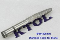 ball endmill - 8x4x25mm V engravers bit Tapered Ball nose end mill CNC diamond tools for stones Granite Diamond Sintered bits endmill cutter