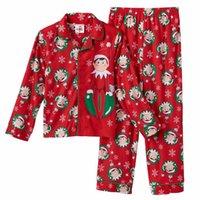 Boy baby boy flannel - Kids Pajamas New Xmas Clothes Cardigan elf Pajama Sets Children Sleepwear Family Christmas Toddler Baby Pajamas