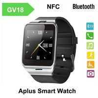 Wholesale Aplus GV18 NFC smartwatch waterproof GSM Bluetooth SIM TF Wrist Wearable Bracelet HD touch screen For Android IOS Phone VS D watch DZ09