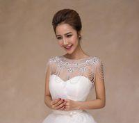 Wholesale 2016 Bling Bling High Quality Bride Shoulder Chain Bridal Beads Crystals Wraps Wedding Bridal fashion Necklace Wedding Jewelry Rhinestones