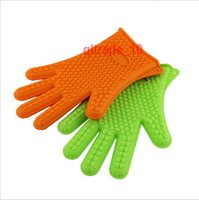 appliance microwave oven - 100 BBA4938 Silicone Kitchen Cooking Gloves Microwave Oven Non slip Mitt Heat Resistant Silicone Home Gloves Cooking Baking BBQ glove Holder