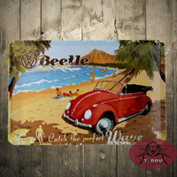 Wholesale VW Volkswagen Beetle Surf Coast Metal Sign Tin Sign x12 inch