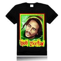 Wholesale Star Bob Marley D Tshirts Round Neck Short Sleeve Mens Tee China Made Printing Shirt Personality Shirt Painting Men Clothing Size S M L XL