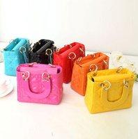 baby check mini - Hot Girl Totes high quality shine baby girl handbags girl small tote Lolita style fashion classics girl s luxury bags