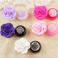 fashion contact lenses - Lovely Flower Contact Lens Case Fashion Contact Lens Holder