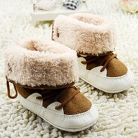 baby walkers for sale - 2015 Hot Sale Fashion Style Little Kids First Walker Shoes Furry Lining High Leg Boots For Children Lace up Decorate Baby Prewalker CR371