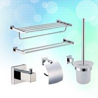 Wholesale Copper bathroom dorlink five pieces set luxury bathroom accessories bathroom towel rack order lt no track