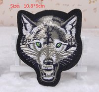 Wholesale Diy handmade wolf embroidery sew on or iron on patch stickers cm