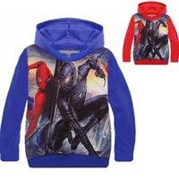 Wholesale Kids Winter Jackets Cartoon Hoodies Spiderman Children Boys Jackets Hoodie Youth Sweatshirt GirlsCoat Kids Sweater wb kids Christmas Clothin