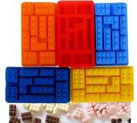 Wholesale 50pcs silicone ice cube tray Irregular cake mold chocalate mould Ice Mold Silicone Ice Cube Tray Brick Block