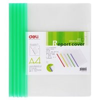 Wholesale Deli report cover transparent PP spine bar folder mounted color random