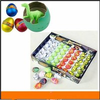 big easter eggs - 2015 set Style Christmas Easter Eggs Dinosaur Easter Egg Animals Eggs DIY handpainted eggs hatch out animals creative toys BBA3352