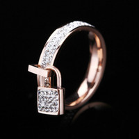 Wholesale Titanium steel ring rose gold ring silver wedding ring key love ring screwdriver fashion jewelry ring for women