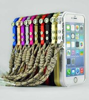 apple robotics - 2015 Hot Sale For Apple Aluminum New For Iphone quot Robotic Arm Metal Bumper With Lanyard Chain Frame