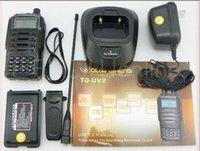 best uhf radio - DHL Freeshipping best quansheng tg uv2 uhf vhf dual band radio tg uv2 ham way radio station portable walkie talkie