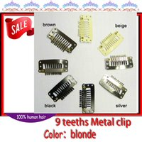 Wholesale hair clip with teeths Metal clip Snap clip for hair weave mm color colors can choose Ladies women Girls can drop shipping