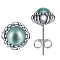 Wholesale Fashion New Arrival Sterling Silver With Light Green Crystal Stud Earrings For Girls Women Gift Jewelry