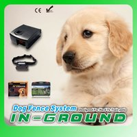 Wholesale 8pcs Over square meter Dog Fence System Remote control of pet activity with levels of Vibration and Static HT