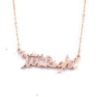 14k findings - 2015 fashion Finding Mr Right letter L stainless steel k gold plated pendant necklaces jewelry for women SP00711