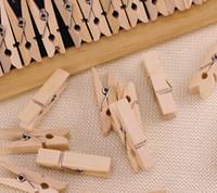 Wholesale Vintage wooden combination photo wooden clip clip photo wall colors mini clip cm packages