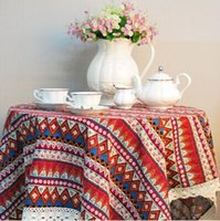 Wholesale Coffee table linen table cloth tablecloth dining boob red flag tablecloth upscale European art custom stripes