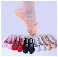 adult shoe soles - Women Ballet Dance Shoes Hot Children Soft Sole Girls Ballet Shoes For Kids Adult Ladies Fitness Breathable Canvas Practice Gym Slippers