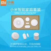 Wholesale Original Xiaomi Smart Home Kit Gateway Door Window Sensor Human Body Sensor Wireless Switch Multifunctional Smart Devices Sets PA2547