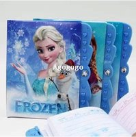 Wholesale 2014 new FROZEN elsa anna olaf stationery notepad hardcover notebook for kids learning models password Diary